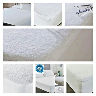 Waterproof Terry Towel Fitted Cover Mattress Protector Single,Double,King,S King