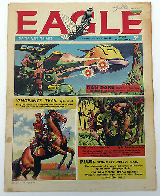Vintage EAGLE Comic 28th April 1962 Vol.13 No.17 Cutaway of JCB 4 Excavator