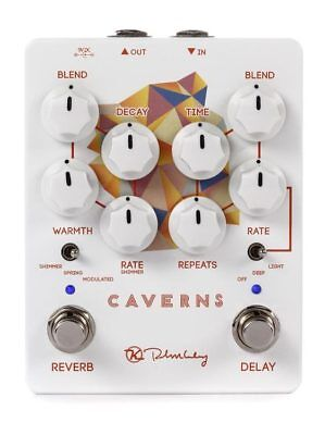 Keeley Caverns V2 Delay and Reverb Pedal insured & trackable shipping