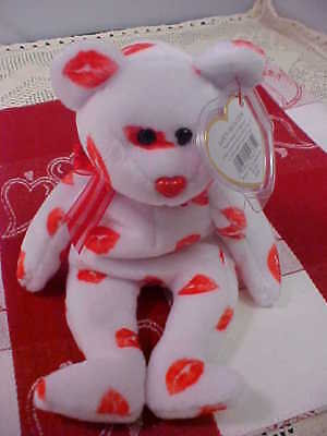 Ty Beanie Baby SMOOCH The Bear Retired 2001 Nice Gift For Your Valentine New