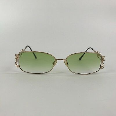 a477fc861e Vintage Caviar M4001 C21 53 16 130 Womens Glasses Green Lenses Metal Frames