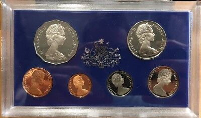 1978 Royal Australian Mint Silver Proof Coin Set Of Six Coins Original Condition