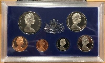 1975 Royal Australian Mint Silver Proof Coin Set Of Six Coins Original Condition