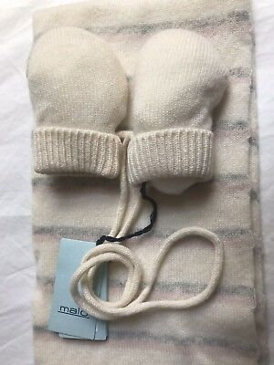 Malo Cashmere Baby Scarf & Mittens NWT
