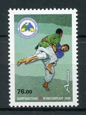 Kyrgyzstan 2018 MNH Alysh Kyrgyz National Belt Wresting 1v Set Sports Stamps