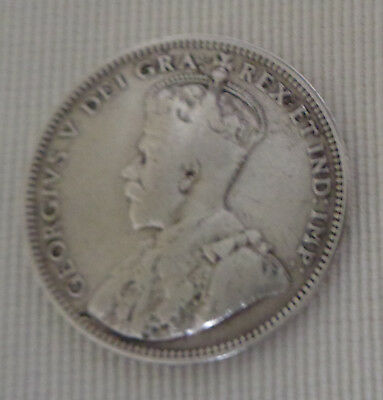 1912 New Foundland Canada Silver 20 Cent Coin King George V Titanic Era Old