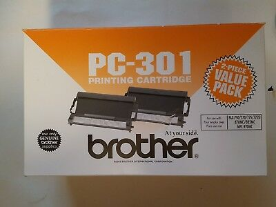 Brother GENUINE PC-301 Black Printing Cartridges Dual Pack / 2 Pack
