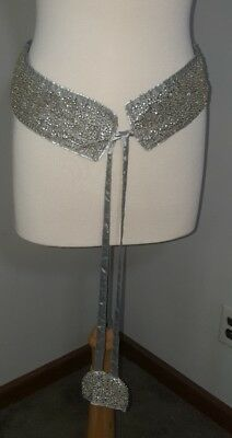 Vintage Krishma Beaded Sequin Belt Wedding Formal Fashion Prom Sash