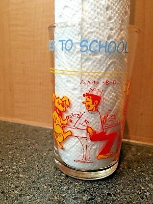 """1971 Vintage Archie Comics Welch's Jelly Glass """"Hot Dog Goes to School"""" Betty"""