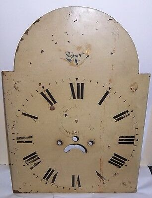 Arched Painted Grandfather Clock Dial Spares Repair