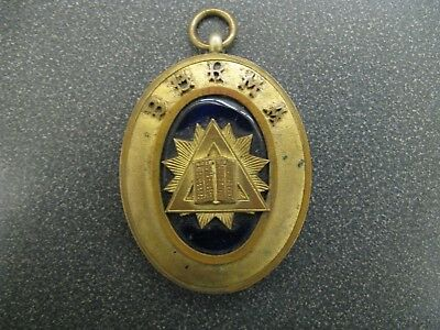 Circa 1950 Burma Holy Bible Brass Masonic Collar / Medal Marked G.K & S