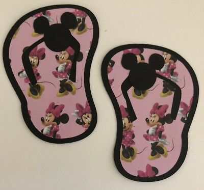 Minnie Mouse Indpired Flip Flop Beach Die Cut Paper Piecing Handmade