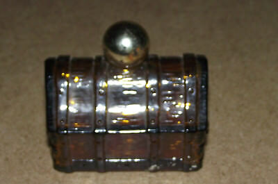 Coffee rootbeer cologne perfume Avon treasure chest empty collectors bottle