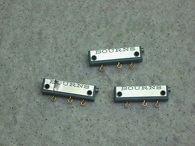 Three (3) Bourns Precision Trimpots 100 Ohm