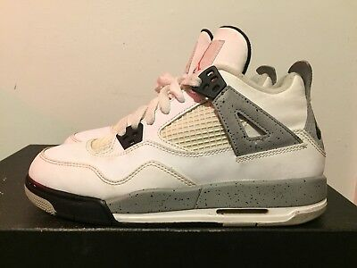 ab497de42f7 2015 Youth Nike Air Jordan IV 4 Cement White Black Red Size 6Y Used DS Rare