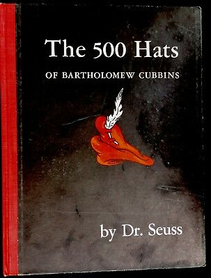 THE 500 HATS OF BARTHOLOMEW CUBBINS By Dr. Seuss ~1938 1st Ed Children's Book