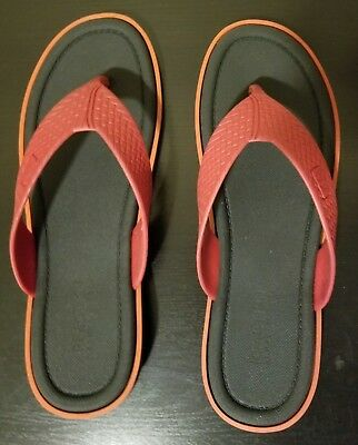 42d76da26 Kenneth Cole REACTION Men s Reply All (Sandal) Flip Flop Black  Red 12 D