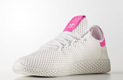 7e62d2075fccf New adidas By8714 Men Pharrell Williams Tennis HU Shoes White Pink SNEAKERS