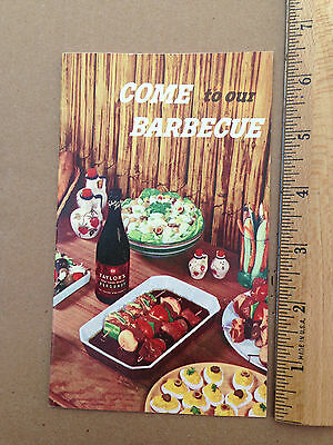 1955 Come To Our Barbecue Taylor Wine Company Food Recipe Booklet Guide