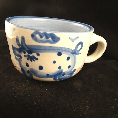 MA Hadley Pottery PIG Coffee Tea Cup The End No Saucer
