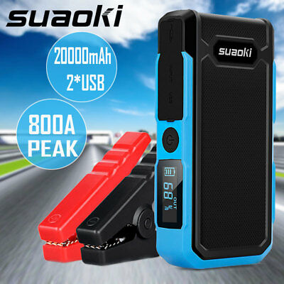 8000~20000mAh Car Jump Starter Battery Booster Auto Charger Power Bank Emergency