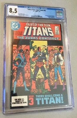 Tales of the Teen Titans #44, 7/84, CGC 8.5 White Pages 1st Grayson as Nightwing