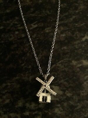 Windmill Pendant With Silver Chain