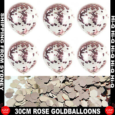 10/20/50Pcs 30cm Rose Gold Confetti Sequins Latex Helium Balloon Party Balloons