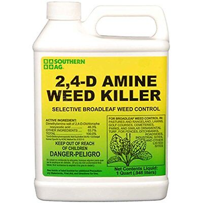 2,4-D Home & Kitchen Features Amine Weed Killer Selective Broadleaf Control, 32