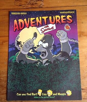 Burger King The Simpsons Halloween Adventures Leaflet Vol. 13 Issue 6