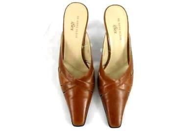 a7cdb2e6122 AK ANNE KLEIN Women s Light Brown Iflex Leather Upper Pointy Toe Heels Size  7.5