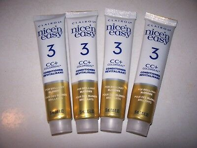 4 X CLAIROL NICE 'n EASY 3CC+ BRILLIANT BLONDES ColorSeal Conditioner 55ml Tubes
