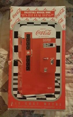 Coca Cola Collectible Die Cast Metal Musical Bank, With Box