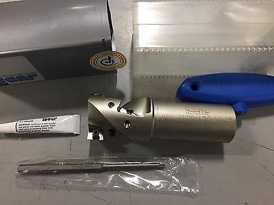 """Iscar Indexable Square Shoulder End Mill, 1.5""""D x 1.25""""S x 1.5"""" x 4.5"""", 3100461"""