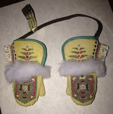 Vintage Friends Of The Feather Furry Mittens Ornament-1999 Enesco Karen  Hahn