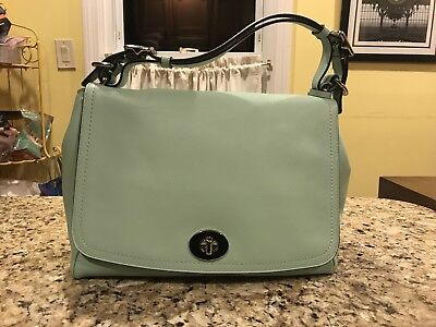 COACH LEGACY Smooth Leather ROMY TOP HANDLE CROSSBODY SHOULDER BAG Mint ce0cf8a0d24ba