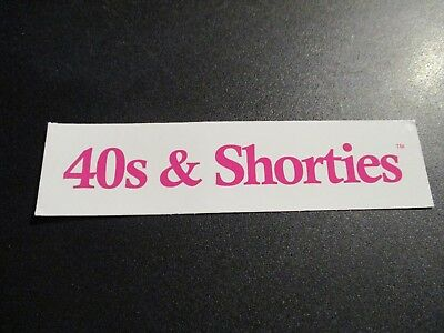 40s & SHORTIES Sticker Pink&White Text skate skateboards helmets decal and