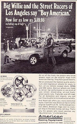 1969 Charger Daytona Big Willie & The Street Racers Of La ~  Original Smaller Ad