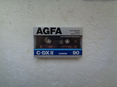 Vintage Audio Cassette AGFA C-DX II 90 * Rare From Germany 1985 *