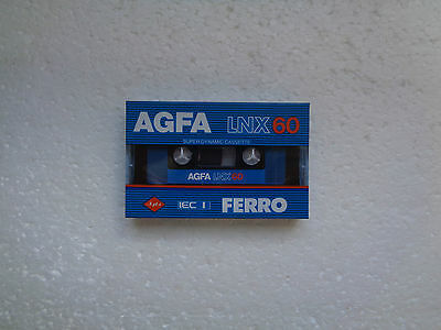 Vintage Audio cassette AGFA LNX 60 * Rare From 1982 * New