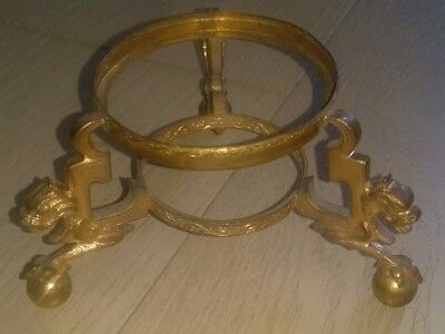 Antique Gilt Metal Ormolu French Chinese Style Vase Stand Mid 19th Century