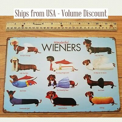 Wonderful Weiner Dogs Sign Funny Dog Sign Funny Puppy Sign Dachshund Gift Metal