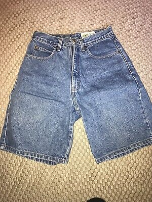 Vintage 90s Eddie Bauer High Waisted Jean Denim Shorts - Size 8