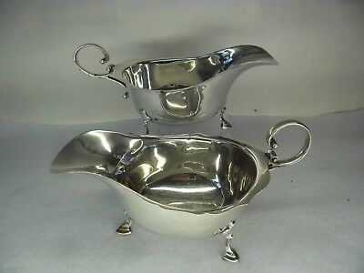 Pair of ASPREY & CO Solid Silver Sauce Boats, B'ham 1929