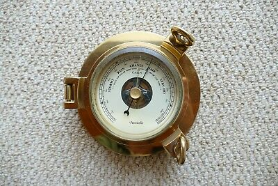 Nauticalia Brass Cabin Barometer, Good Used Condition