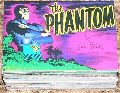 Comic Images The Phantom by Lee Falk in 1995 Complete 90 card base set.