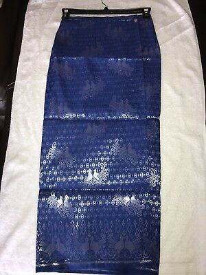 Cambodia Traditional Sam Pet (long Skirt) (M-dark blue) best price in town!