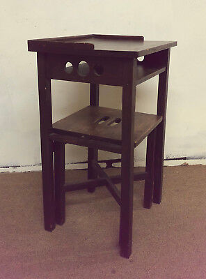 Arts & Crafts Mission Style Telephone Stand & Bench