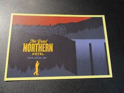 TWIN PEAKS RETURN Art 4X6 Postcard GREAT NORTHERN H poster print rockets are red