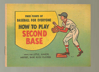How Play Second Base NM 1957 Finer Points Baseball Babe Ruth Comic Book N